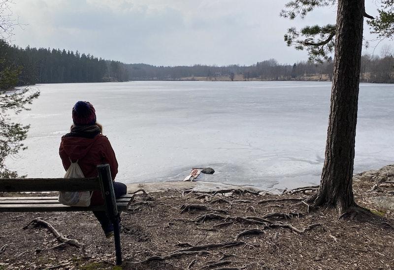 Vacker vy över sjön Kalven