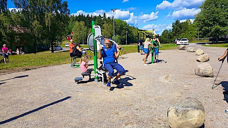 Invigningen av Björkviks utegym