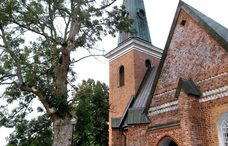 Kyrkan på Ängsö.