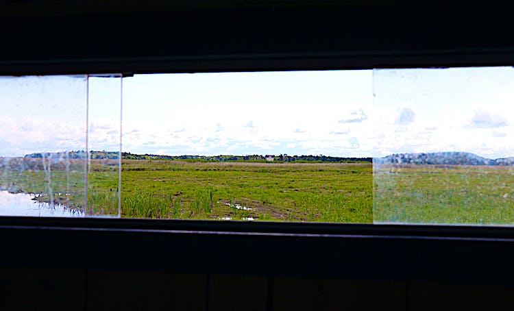 Bild tagit ut från fönster i gömslet.