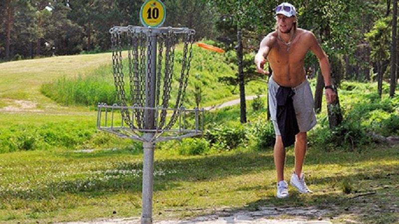 Discgolf/frisbeegolf på Skutberget