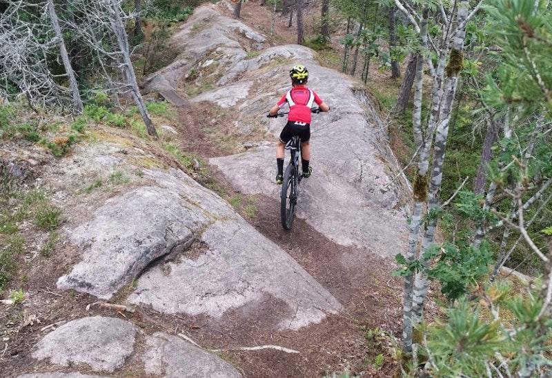 VO-slingan, mountainbike