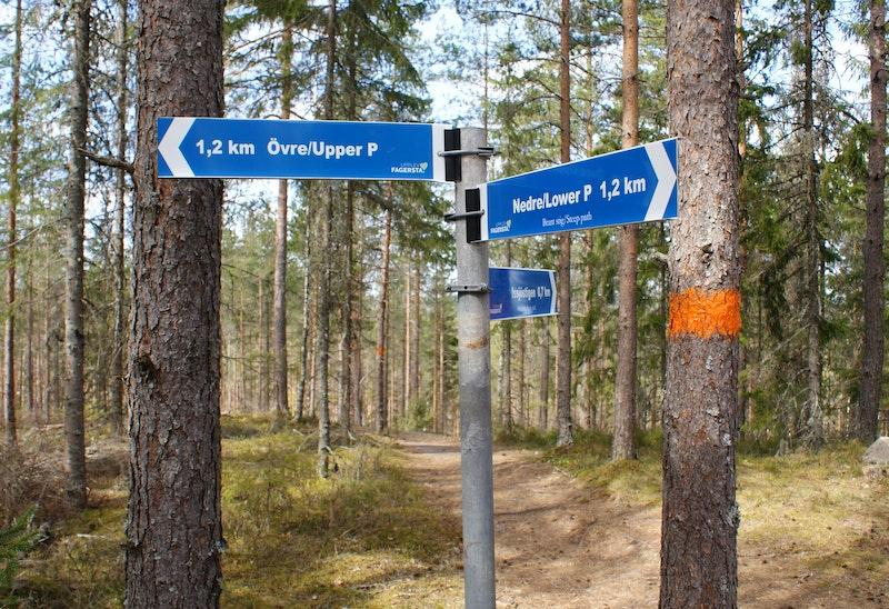Avstånd och riktningsangivelse vid Norra Landsberget