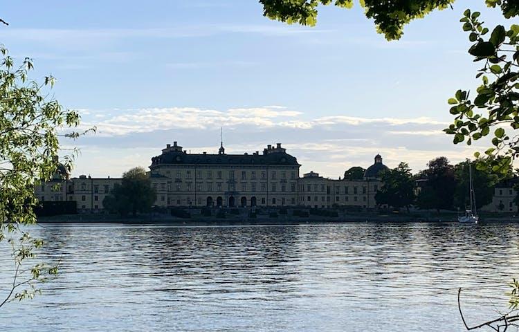 Utsikt mot Drottningholms slott från Kärsöleden. Foto: Lena Malmström