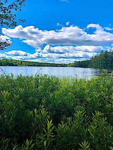 Vy över sjön Jälken.