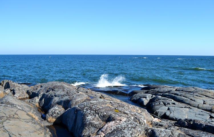 Utsikt mot öppet hav. Foto: Marie Amid