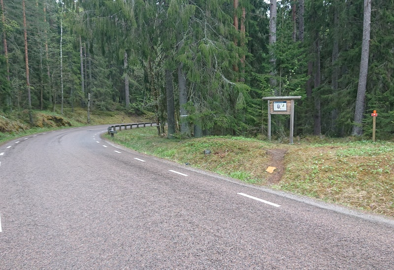 Passage över väg till Svartbergets Naturreservat