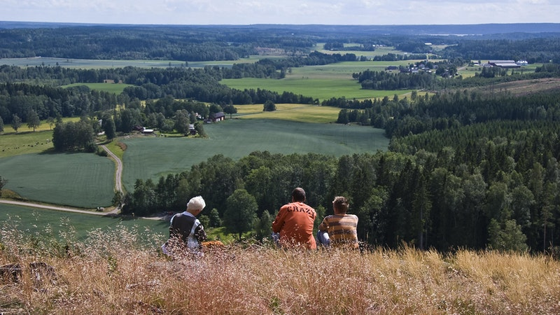From Hösås you have a great view, on clear days, you see all the way to Kinnekulle which is across the lake Vänern! Photo: Karsten Herskind