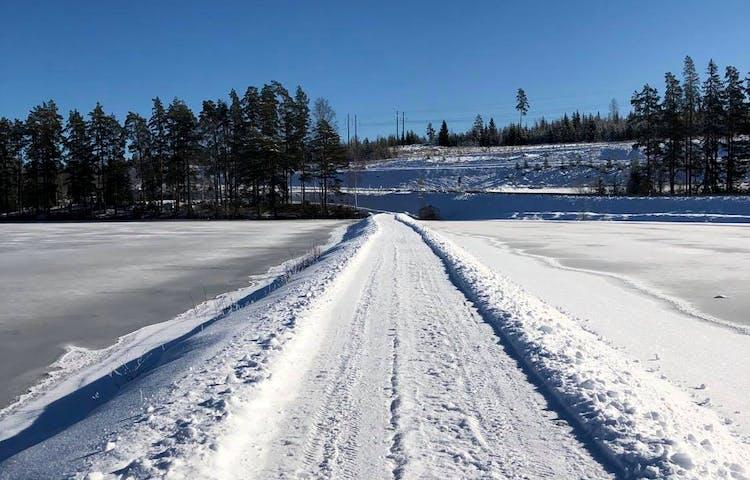 Plogad led vintertid.