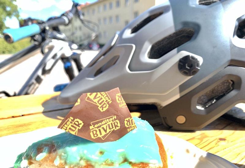 Bivur klassiskt konditori med godsaker för alla cyklister.