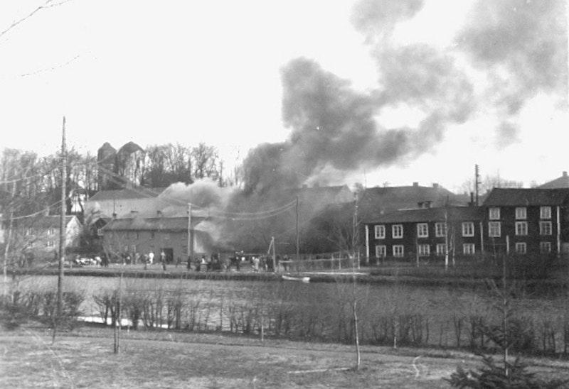 Historisk brand vid Sundsgatan