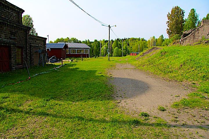 Norbergs skidstadion är huvudentré till naturreservatet.