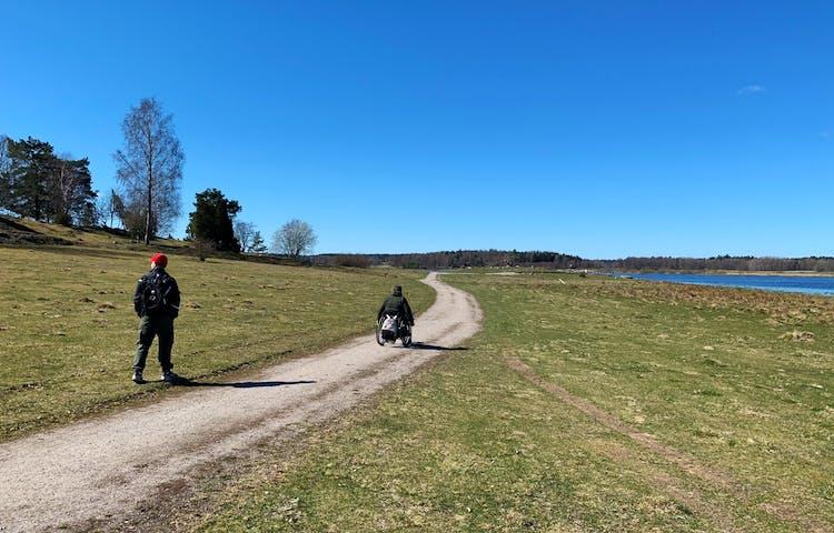 Angarnssjöängen mot Klosterbackens utkiksplats. Foto: Lena Malmström