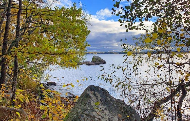 Naturreservatet Hasselhorn med utsikt över sjön Erken. Foto: Lena Malmström
