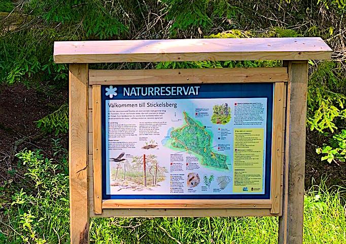 Välkommen till Stickelsberg naturreservat. Foto: Lena Malmström