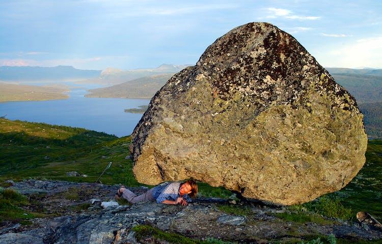 Laxfjällets topp utsikt mot Gäutan